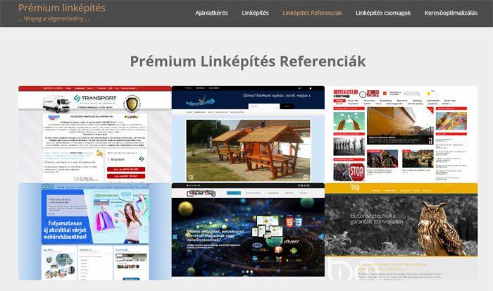 prémium linképítés referenciák siófok